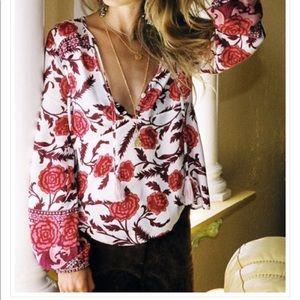Arnhem Carolina Rose Blouse Blush size 12 AU /8 US